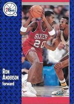 Ron Anderson ~ 1991-92 Fleer #150 ~ 76ers - $0.05