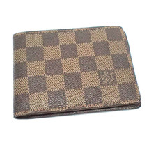 LOUIS VUITTON Portefeiulle Mutile N60895 Used Excellent Damier women Fro... - $370.85