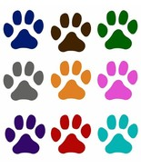 Paw Print Window Decal Pet Cat Dog - Choice of Color Sticker - Not Water... - $4.00