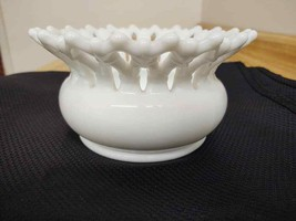 Westmoreland white milk glass Doric spittoon or vase/SCARCE. - $33.25