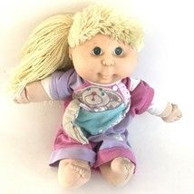 Vintage 1991 Hasbro CPK Cabbage Patch Kissn' Kids Blonde Hair Doll Toy Squeaks - $24.74