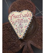 4 Inch That's What Friends Are For HEART SHAPE PAPER BOX - $18.75