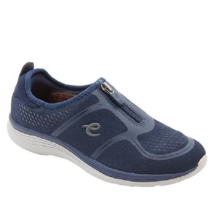 NEW EASY SPIRIT NAVY WALKING COMFORT WEDGE SNEAKERS SIZE 8 W WIDE - €30,17 EUR