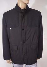 Bugatchi UOMO Men's Black Wool Parka Field Utility Military Jacket Coat XL - $135.99