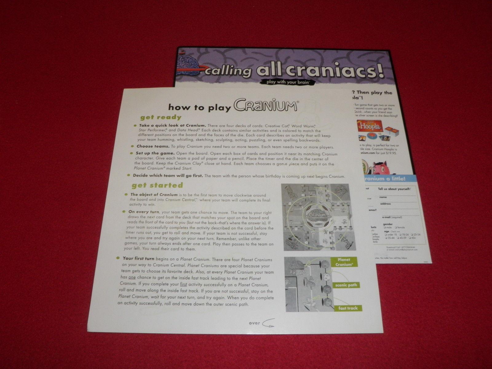 2008 Cranium Board Game Replacement Game And 50 Similar Items