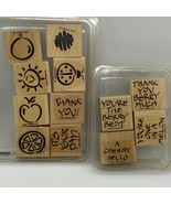 Fruity Phrases & Fanciful Favorites Wood Mounted Stampin' Up! Rubber Sta... - $19.20