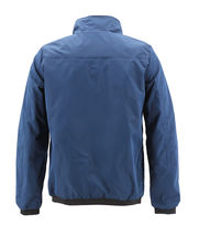 Men's Casual Lightweight Stand Collar Gym Fitness Zipper Navy Track Jacket image 3