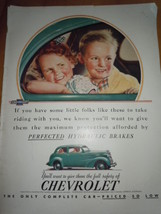 If You Have Little Folks Chevrolet Print Magazine Ad 1937 - $9.99