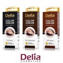 DELIA HENNA / COLOR CREAM EYEBROW PROFESSIONAL TINT KIT SET Brown / Black - $5.27