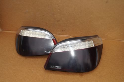 08-10 BMW E60 LED Tail Light Lamps Set Pair Left Right LH & RH - Smoked