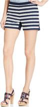 Tommy Hilfiger Striped Eyelet Short Shorts Blue 14, 6904-4 - $27.76