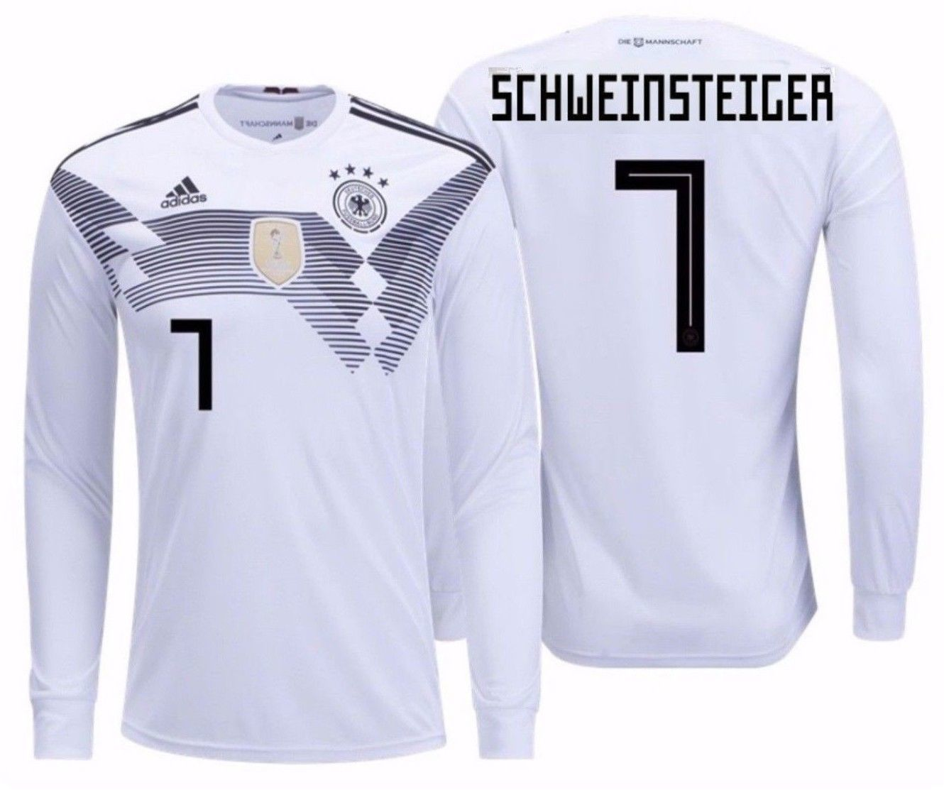 abf4e1333 57. 57. Previous. ADIDAS B. SCHWEINSTEIGER GERMANY LONG SLEEVE HOME JERSEY  FIFA WORLD CUP 2018.