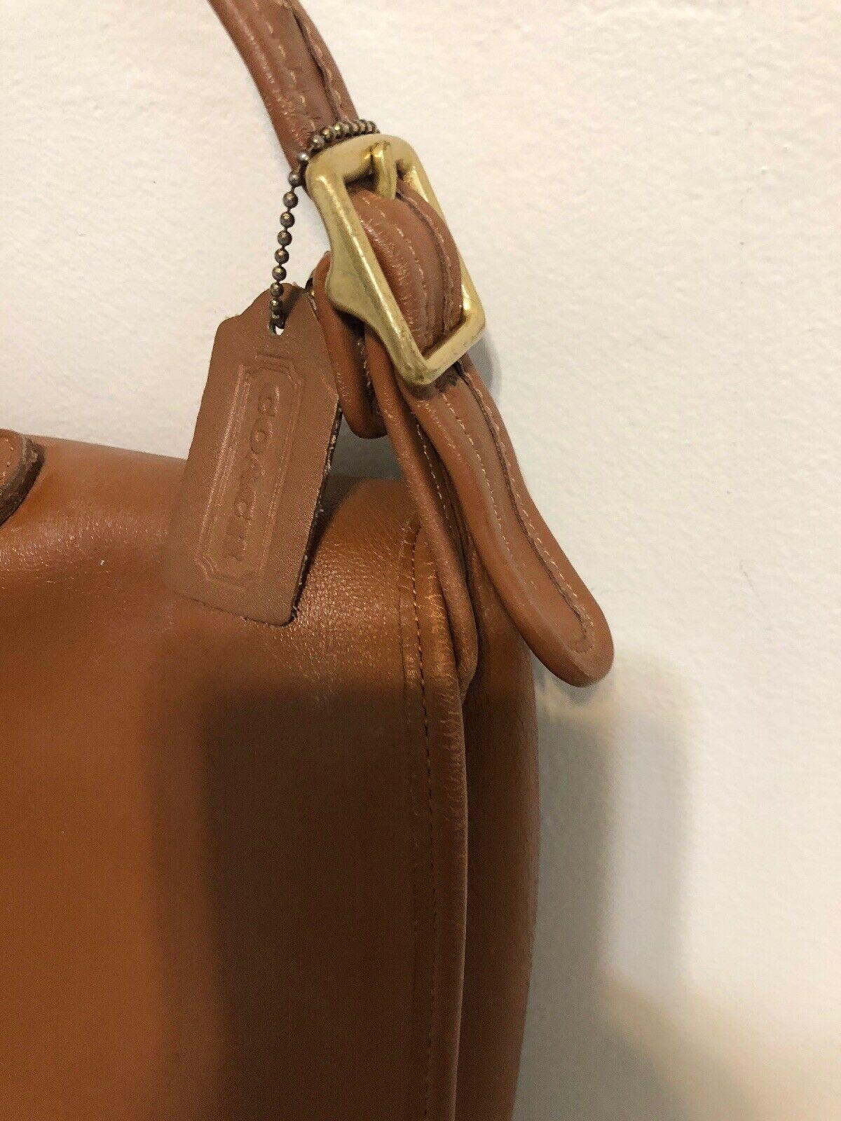 Vintage COACH L6C- 5180 Metropolitan Leather Messenger Attache Tan image 4
