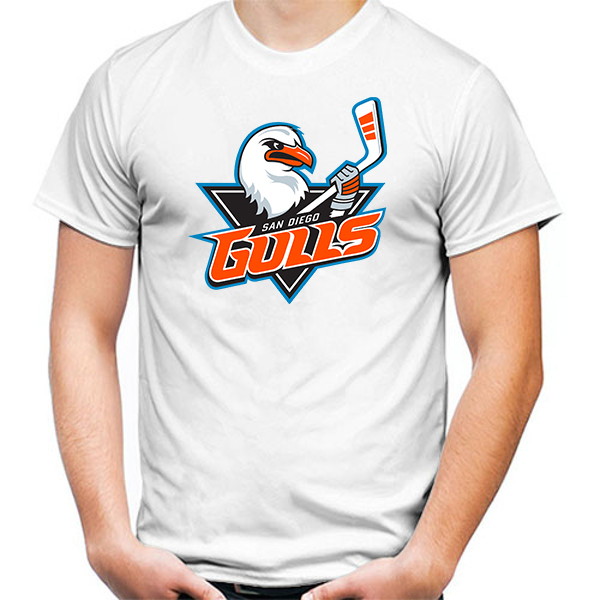 Primary image for San Diego Gulls Tshirt White Color Short Sleeve Size S-3XL