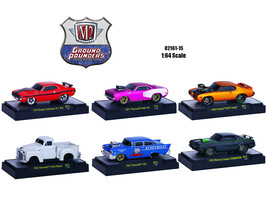 Ground Pounders 6 Cars Set Release 15 IN DISPLAY CASES 1/64 Diecast Model Cars b - $52.78