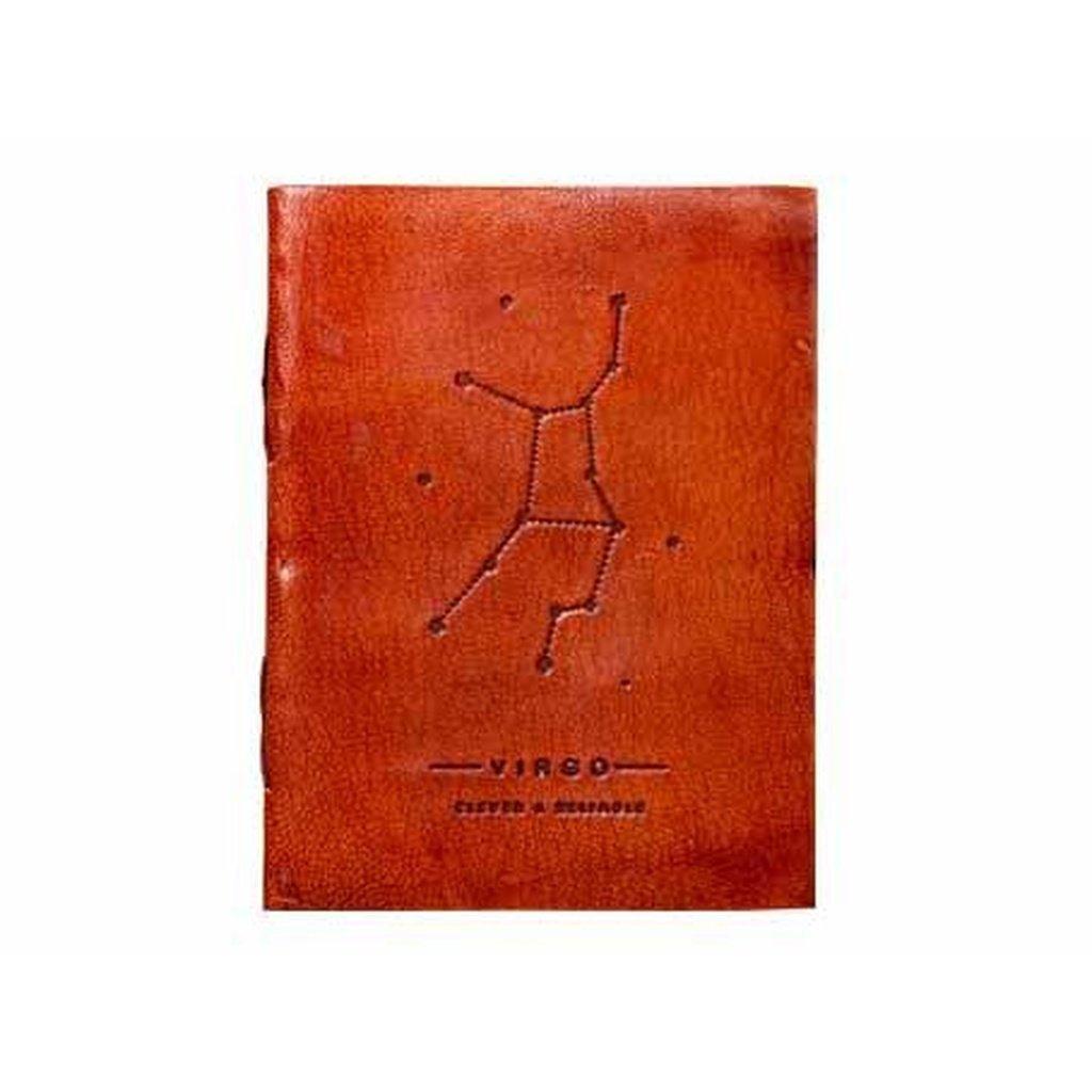 Virgo Zodiac Handmade Leather Journal