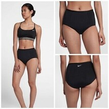 NWT Nike Swimsuit Swimwear Bra Size S Crossback Sport Bikini 2pc set High Waist - $43.43