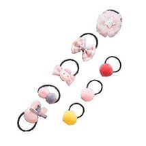 8 Pcs applied Hair Bands Rubber Band Baby Hair Rope Headwear Hair Ring