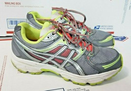 Asics Womens Gel Contend T2F9N Running Shoes Size 8 Grey Yellow Red Snea... - $20.78