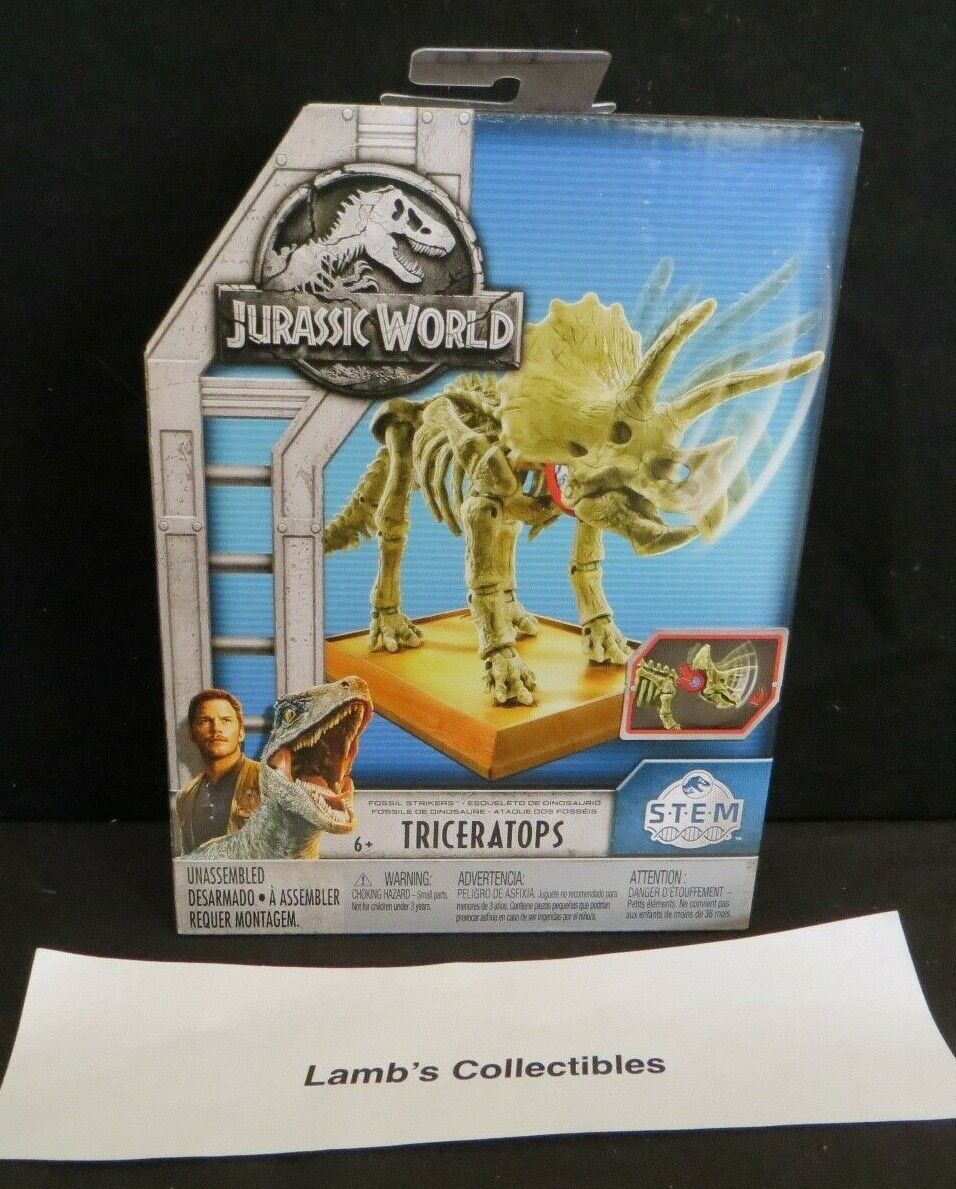 Primary image for Jurassic World Fossil strikers STEM triceratops activity science building kit