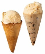 Cookie & Pretzel Ice Cream Cones Crunchy cones made of cookies and pretzels - $33.01