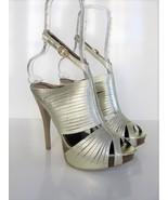Platform Sandals Banded Caged Stiletto Heels N.Y.L.A 7 $180 MSRP - $89.10