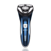 SweetLF 3D Rechargeable 100% Waterproof IPX7 Electric Shaver Wet & Dry Rotary Sh image 2