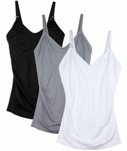Womens Maternity Nursing Tank Cami For Breastfeeding With Adjustable Straps - $35.99+