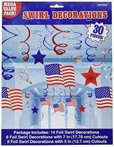 Patriotic Party Foil Swirl Decorating Kit - $14.11