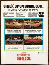 1971 Dodge Colt PRINT AD For a Little Car It's a Lot of Car 4 Models for... - $10.89