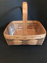 Longaberger Pie Basket with Stationary Handle, Liner & Protector Dated 1994 - $21.50