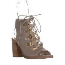 White Mountain Fanfare Heeled Gladiator Sandals, Light Taupe, 8.5 US - $26.87