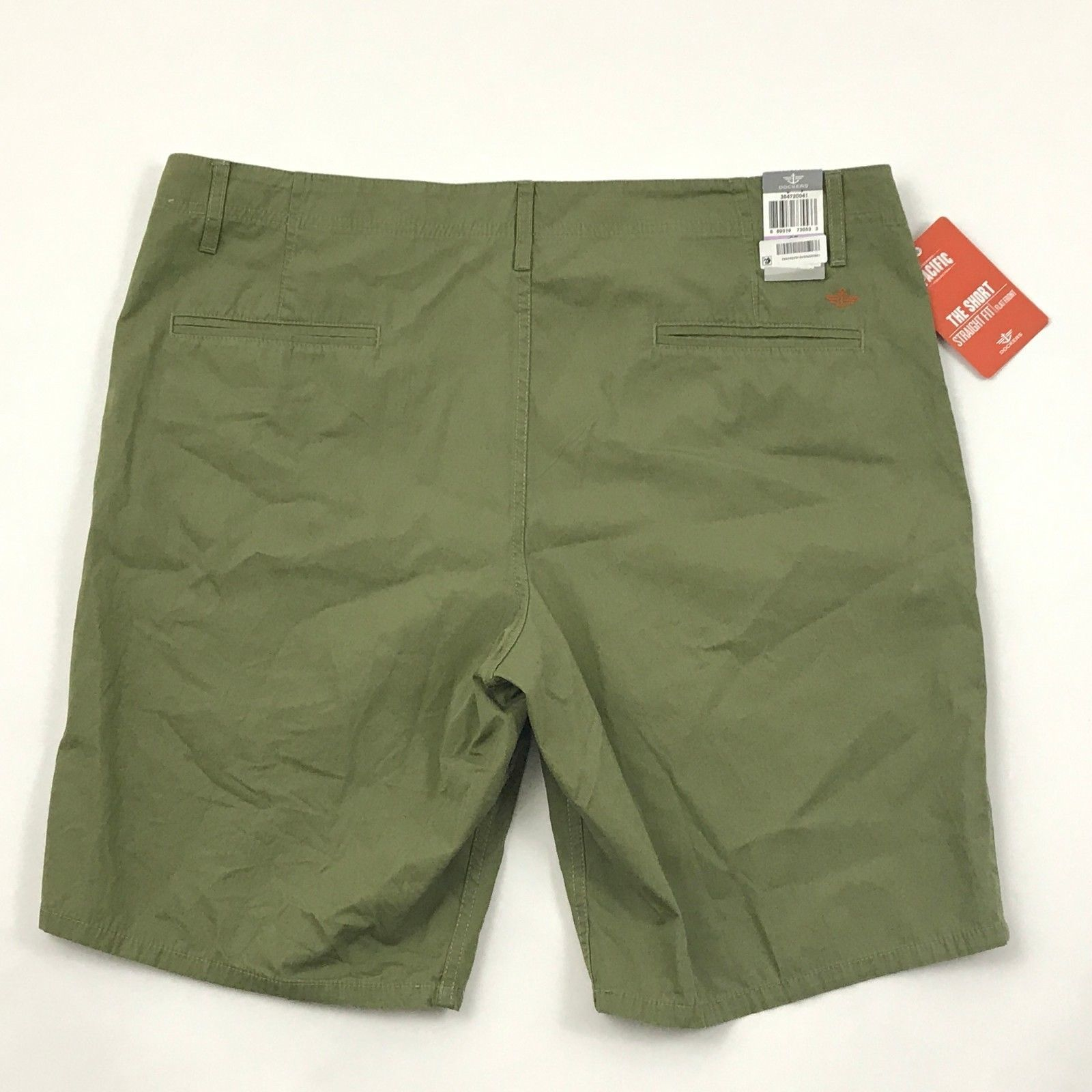Dockers Mens Shorts Size 38 Olive Green Straight Fit Flat Front Pacific Line $48