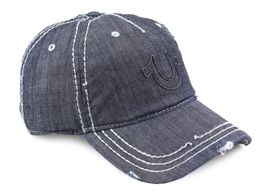 True Religion Men's Vintage Distressed Cotton Horseshoe Trucker Hat Cap TR2095 image 3
