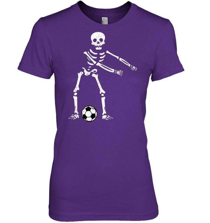 Flossing Skeleton Funny Soccer Lover Floss Tshirt