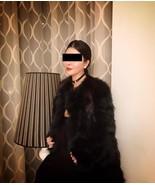 New without Tag Marni Dark Green Black Fox Fur ... - $5,342.49