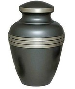 Large/Adult 200 Cubic Inch Brass Ashen Pewter Funeral Cremation Urn for ... - $189.99