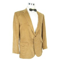 Vtg 70s Mens Sports Coat 46R Tan Brown Corduroy Levis Western Wear Disco - $39.95