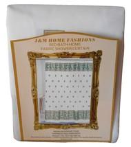 "J & M Home Bed Bath Home Fashions Seashells Fabric Shower Curtain 72"" x ... - $12.86"