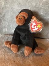 Rare Ty Beanie Baby CONGO Gorilla with HIPPITY Tush Tag Mistake - $705.87