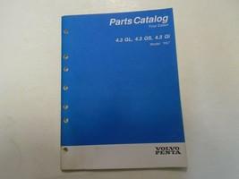 Volvo Penta Teile Katalog 4.3 Gl , 4.3 GS, 4.3Gi Modell cm Hu P/n 7797016-8 - $15.81