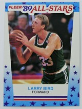 1989-90 LARRY BIRD Fleer All Star Basketball Card - Boston Celtics Hall of Famer - $5.00