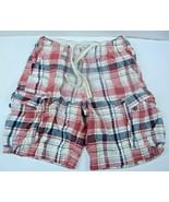 Vintage Abercrombie Fitch Men's Size 30 Distressed Plaid Cargo Shorts Co... - $23.36