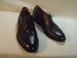 Bostonian Wingtips Shoes Size 9 M Black Leather Oxfords First Flex Dress Career - $39.60