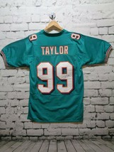 Jason Taylor Miami Autographed Football Jersey Teal with shadow numbers ... - $117.44
