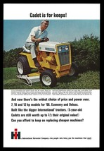 International Cub Cadet Tractor Riding Lawnmower AD 1966 Collectible Vin... - $9.99