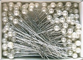"""144 Pearl Corsage Pins 1.5"""" Round Pearl ideal for corsages - £3.06 GBP"""
