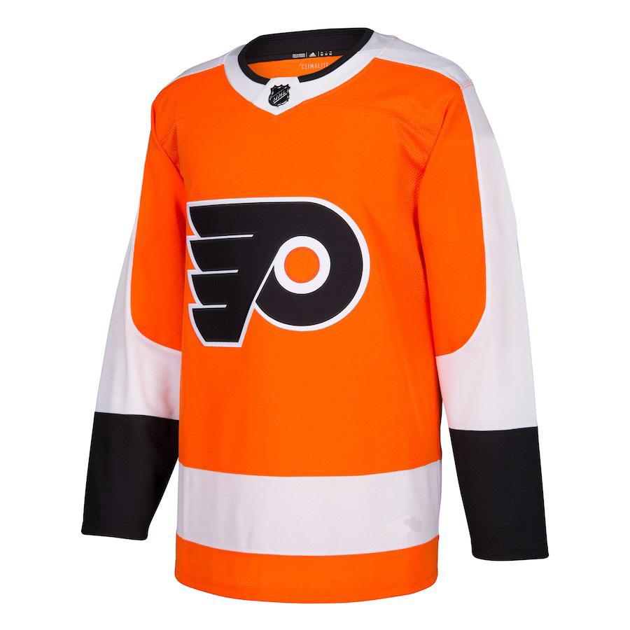Men's Philadelphia Flyers #7 Bill Barber Orange Home New