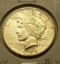 1922-D Peace Dollar Silver Coin Heavy Die Cracks On Obverse See Pictures... - $45.00