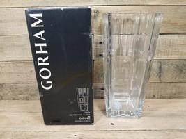 """11.75"""" Gorham Geo Square Vase W Original Box Crystal Vase  - $29.65"""